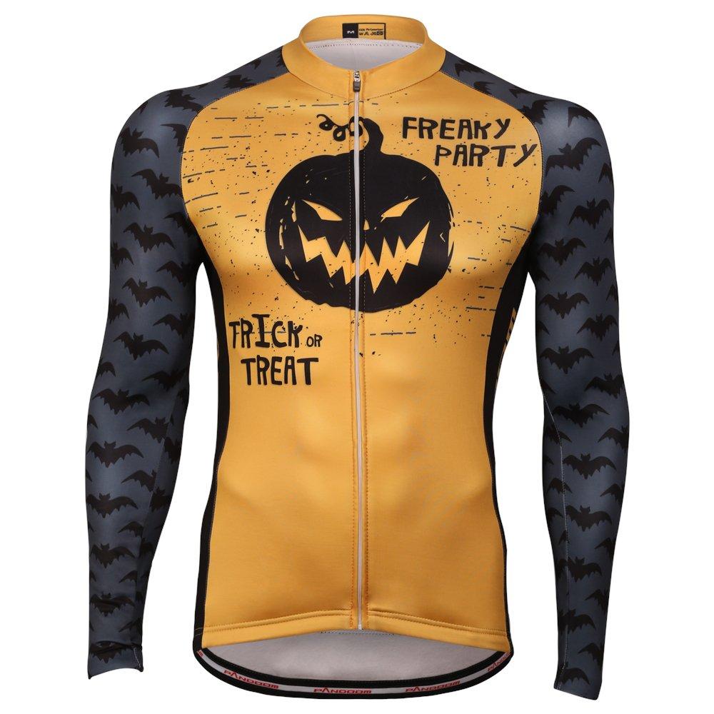 PANDOOM アウトドア スポーツ メンズ 防風 長袖 冬 フリース 防寒 サイクリング 自転車 ジャージ ジャケット Large Halloween B074PR1MB5
