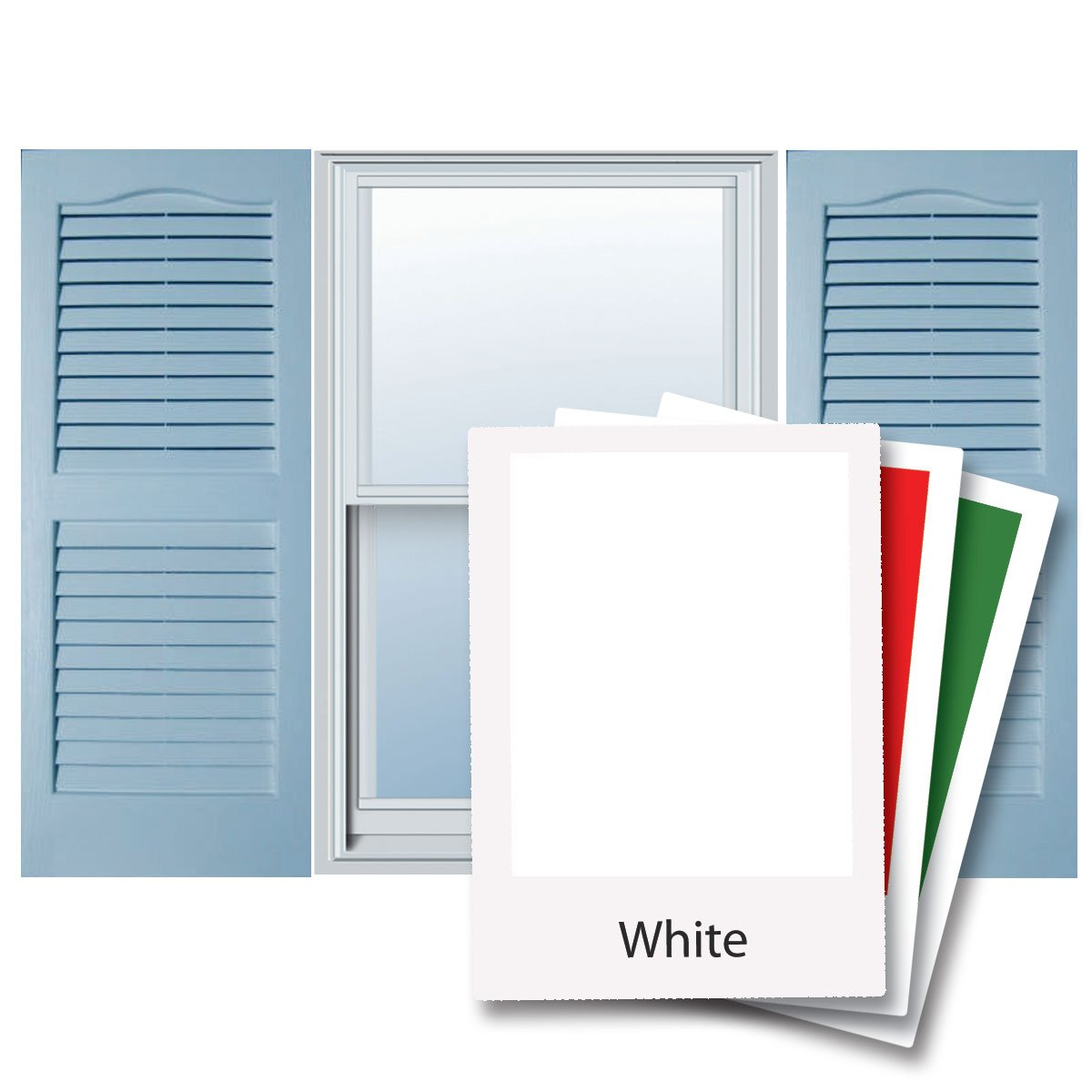 Alpha VNB1535WHOL 14-Inch by 35-Inch Open Louver, White, 2-Pack