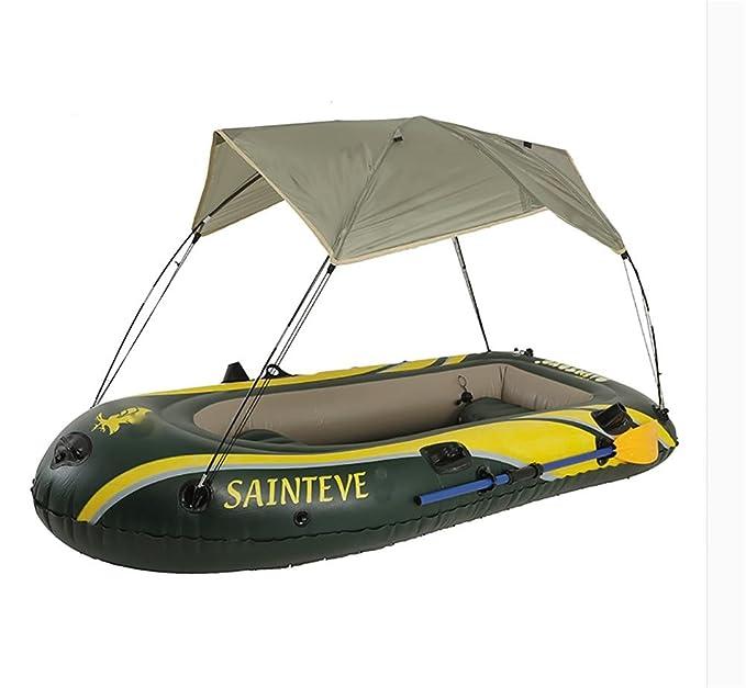 Pota hinchable barco Kayak pesca barco yate con sombrilla: Amazon ...