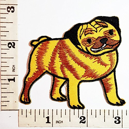Cute Pug Dog Pet patch Symbol Jacket T-shirt Patch Sew Iron on Embroidered Sign Badge Costume (Cute Pugs In Costumes)