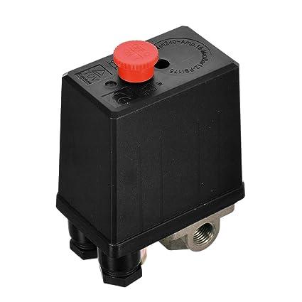 NUEVO 220 V Interruptor de presión de aire comprimido Interruptor Interruptor para compresor Compresores