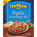 Ortega Fajita Seasoning, Reduced Sodium, 1.25 Ounce (Pack of 12)