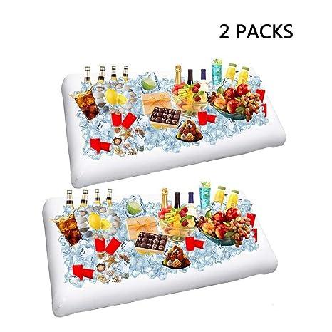Amazon.com: 2 unidades hinchable Salad Bar Buffet Ice Cooler ...