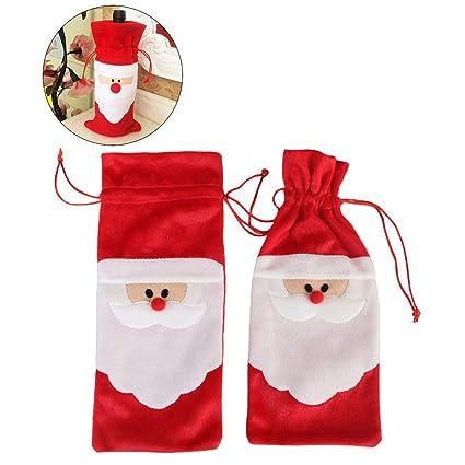 OULII Bolsas Vino Navidad Bolsa Navidad Botella de Papá Noel ...