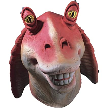 graphic about Halloween Head in a Jar Printable referred to as Rubies Gown Co Kid Star Wars I - Jar Jar Binks Mask