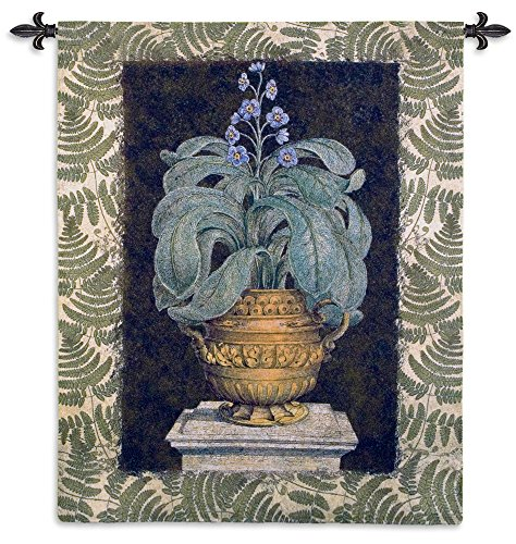 Fine Art Tapestries Tropical Urn I Hand Finished European Style Jacquard Woven Wall Tapestry USA 66X52