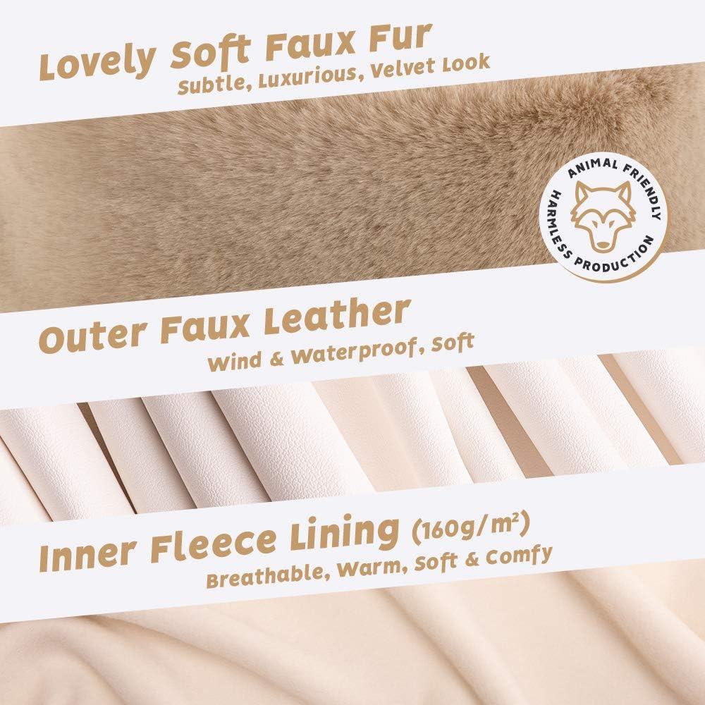 Faux Leather Aviator Hat Futrzane Faux Fur Trapper Hat for Women Soft Fur