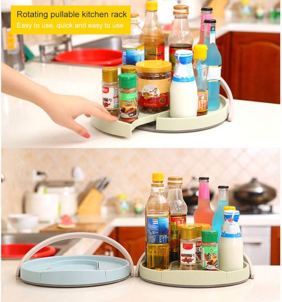 organizer girevole per spezie frigorifero BAODANH Contenitore girevole per alimenti banconi per armadi condimenti 30.5 * 3CM Blue dispensa