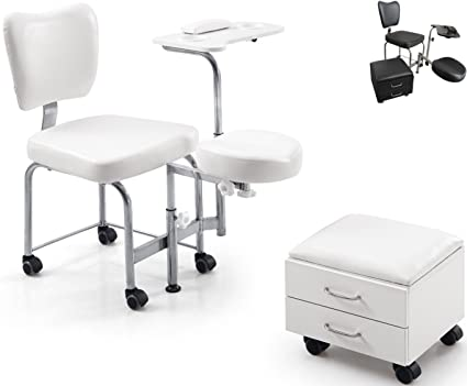 Polironeshop athos sgabello per estetista da massaggi pedicure