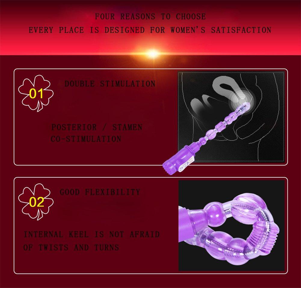 ZWXYA Vibrador de Empuje Femenino Consolador Varita Realista Sin Cordón Masajeador de Mano Varita Consolador y Estimulador Juguetes Sexuales Mujeres,Purple c0043b