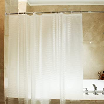 Mooxury Mildew Resistant Shower Curtain Liner With Hooks For Bathroom EVA Curtains Water