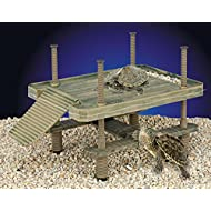 Penn Plax Large Turtle Pier For Use In and Out Of Water Basking Platform For Small Reptiles