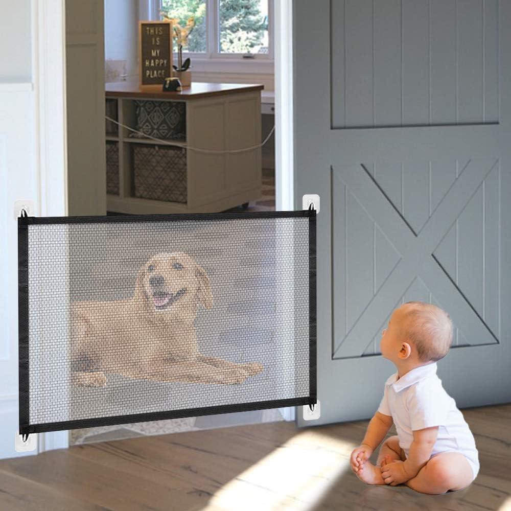Hcpet Magic GateStair Safety GateFoldable Plastic Dog Safe Guard Divider