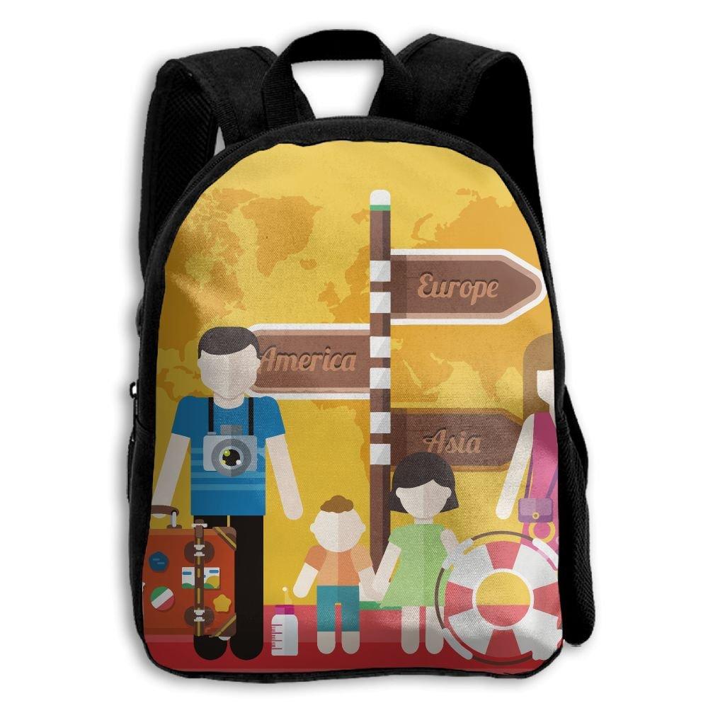 fidaljfファミリHolidays子供の3dプリントファスナー付き旅行バッグ学校バックパック   B07DN7NKC5