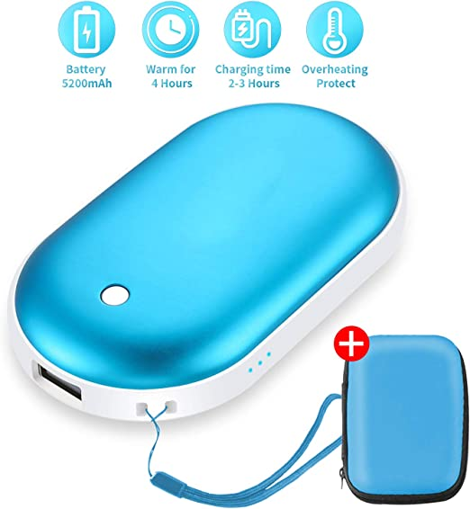 USB PC//Laptop Warmer Gloves Colorful Blue//White