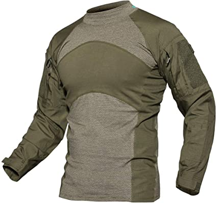 TACVASEN Outdoor T Shirts Men Long Sleeve Combat Military T-Shirt Cotton  Tactical Army Shirts 40e0c58ba65