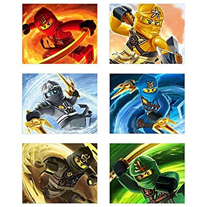 Amazoncom Ninjago 2017 Poster Prints Set Of 6 Ninja Lego Movie