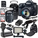 Cheap Canon EOS 7D Mark II 20.2MP CMOS Digital SLR Camera with W-E1 Wi-Fi Adapter, EF-S 18-55mm f/3.5-5.6 IS STM Lens, Tamron AF 70-300mm f/4-5.6 Lens, Battery Grip, Promotional Holiday Accessory Bundle