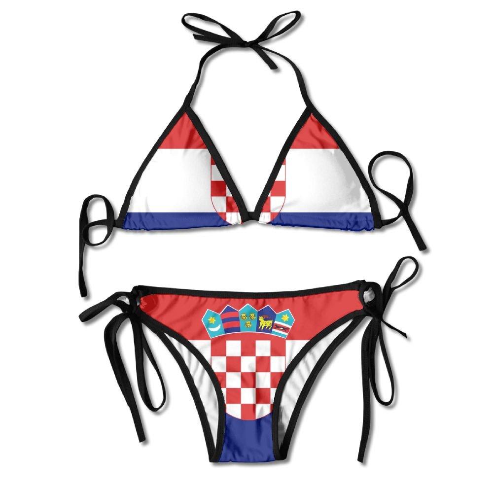 LEIGTAE Conjunto de Bikini Sexy para Mujer con Diseño de Bandera ...