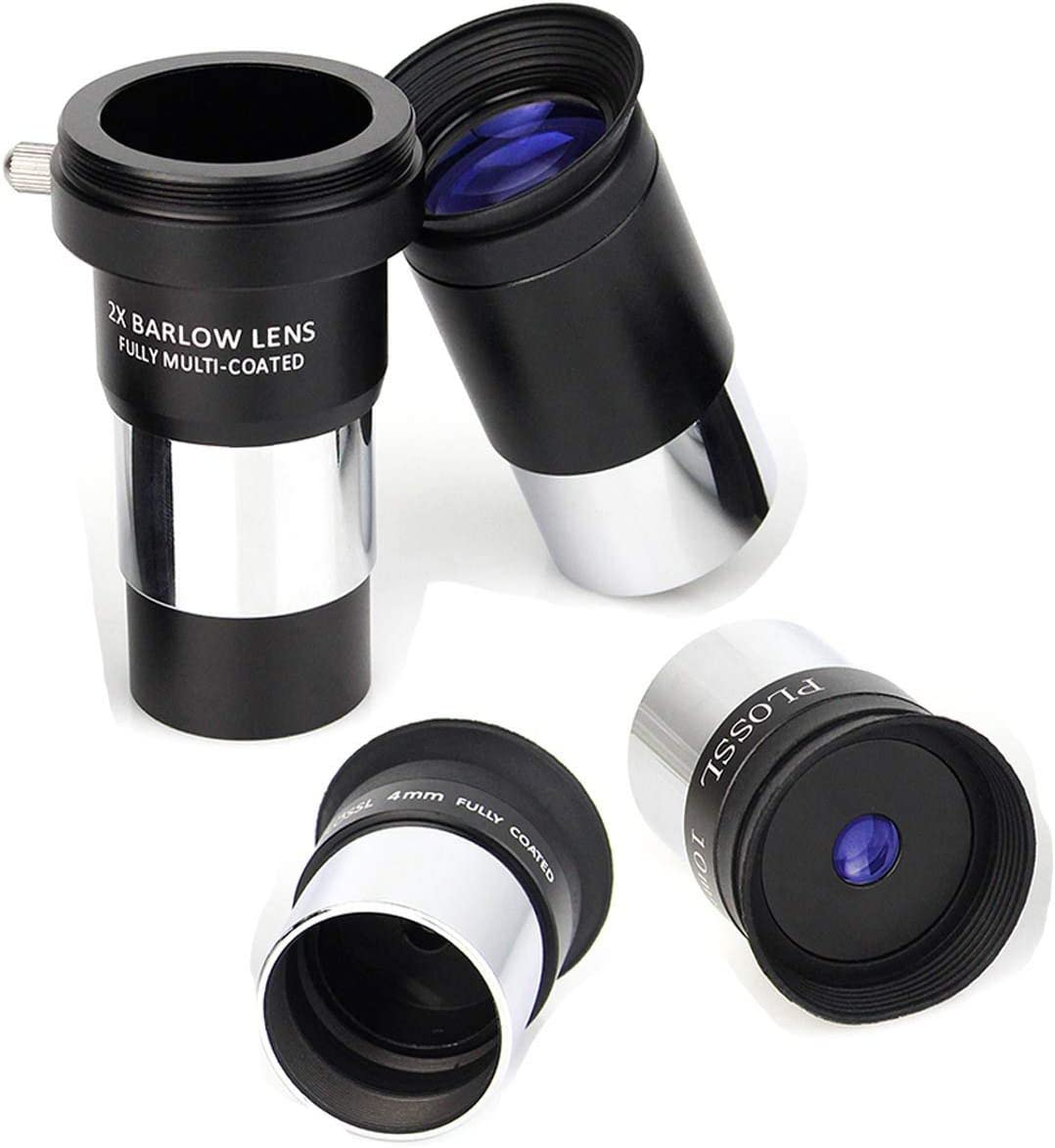 SVBONY Telescope Eyepiece Multi Coated Telescopes Lens Telescope Accessory Kit with Barlow Lens for Standard 1.25 inches Filter Threads 4mm 10mm 25mm