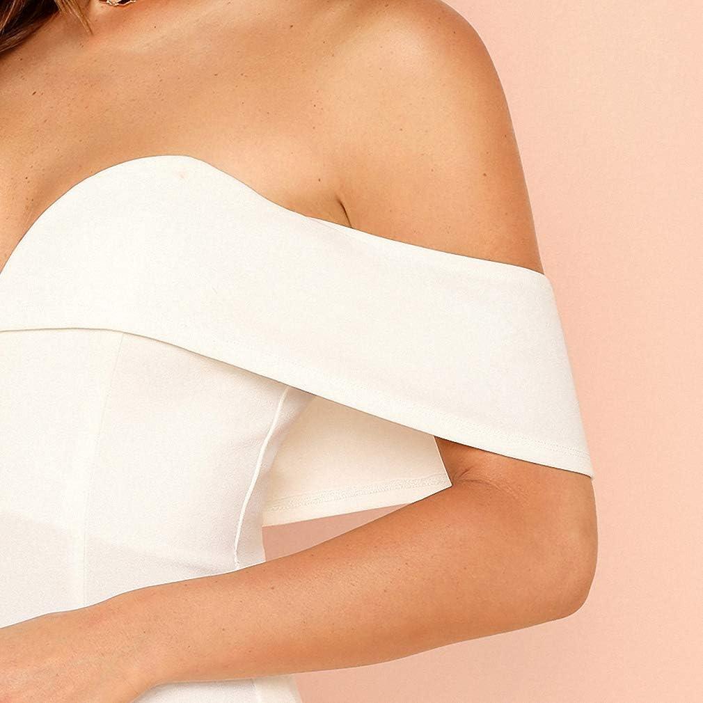 Deep V Neck Front Bardot Bodysuit Off Shoulder Women Mid Waist Skinny Bodysuits