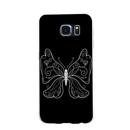Amazon.com: fengzhicai simple mariposa Carcasa Trasera para ...