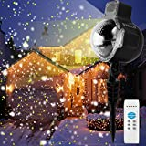 Syslux LED Snowfall Projector Lights, IP65 Waterproof Sparkling Landscape Projection Light for Decoration Lighting with Remote Control, 32ft Power Cable