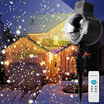 Amazon Com Syslux Led Snowfall Projector Lights Ip65