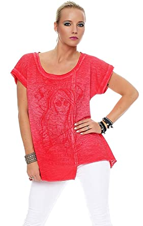 da778b55e92bd Scorpion Bay - T-shirt - Uni - Femme rouge corail Taille Unique - rouge