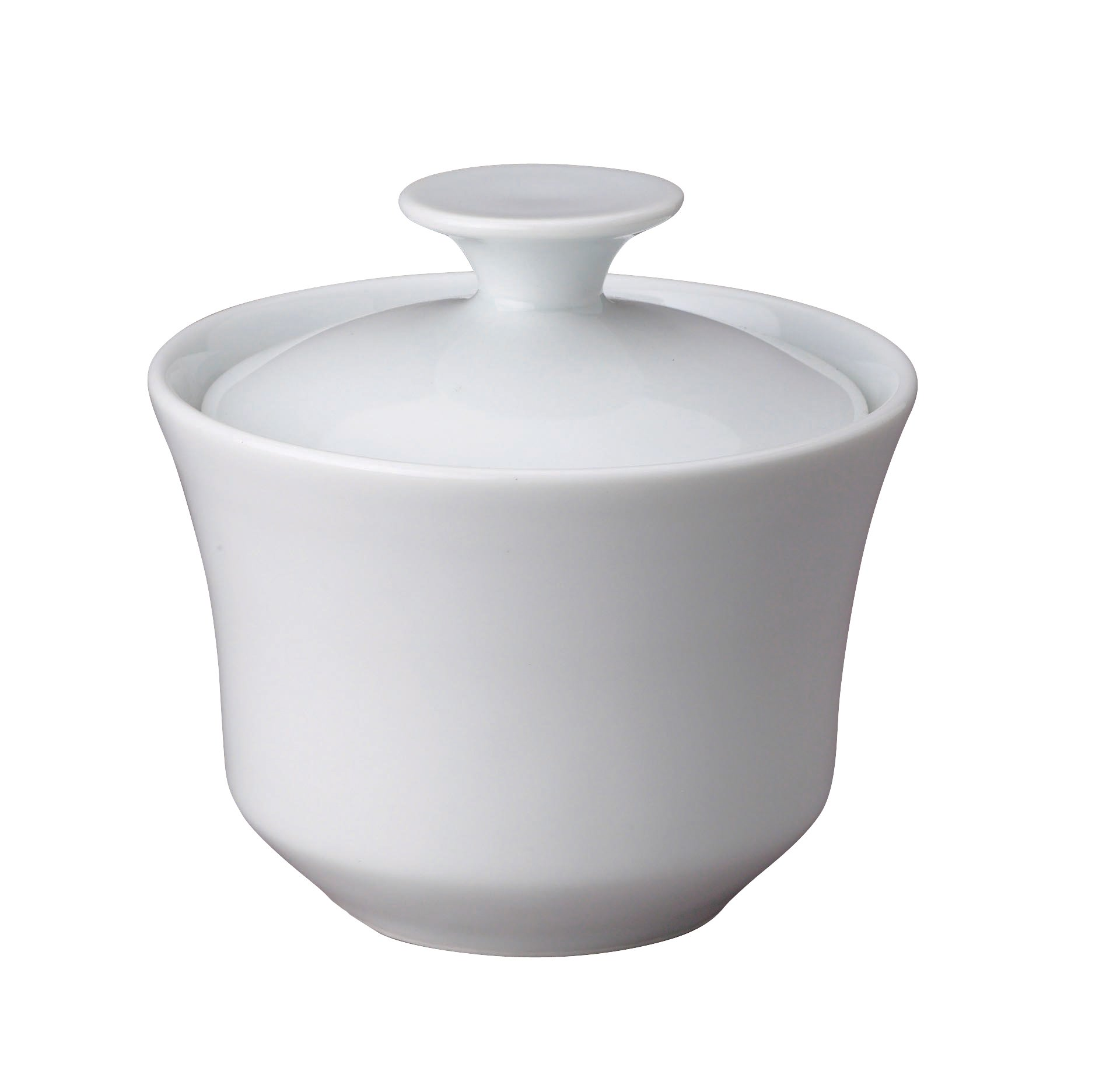 HIC Sugar Bowl with Lid for Coffee and Tea, Fine White Porcelain, 9-Ounces