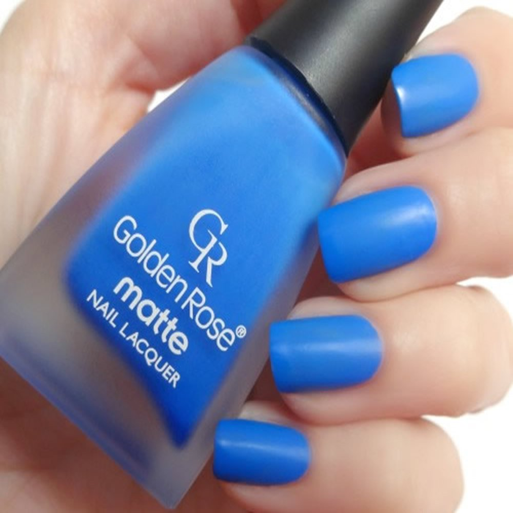 Amazon.com : Golden Rose Matte Nail Polish - 22 Royal Blue : Beauty