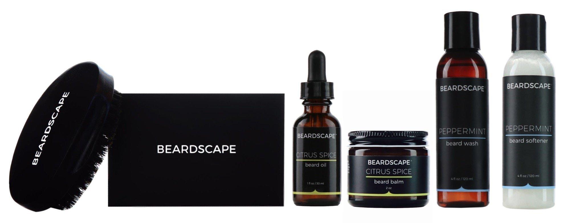 Beardscape Executive Beard Brush Kit (Citrus Spice)