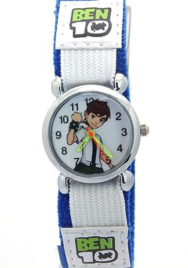 Relojes infantiles para niños y niñas con personaje Ben 10, didácticos, correa de trama