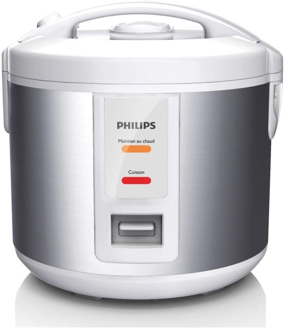 Philips Daily Collection HD3011/08 - Arrocera Plata, Blanco