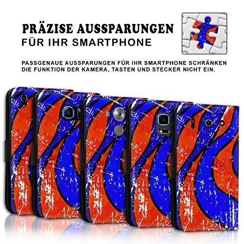 Wallet Book Style Flip Handy Tasche Case Schutz Hülle Schale Motiv Etui für Apple iPhone 4 / 4S - Design Flip MVD204