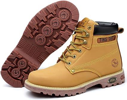 Botas De Seguridad para Hombre Botas Protectoras Punción A Prueba De Golpes Botas De Martillo con Cabeza De Acero Incorporada Zapatos Casuales De Senderismo Al Aire Libre: Amazon.es: Deportes y aire libre