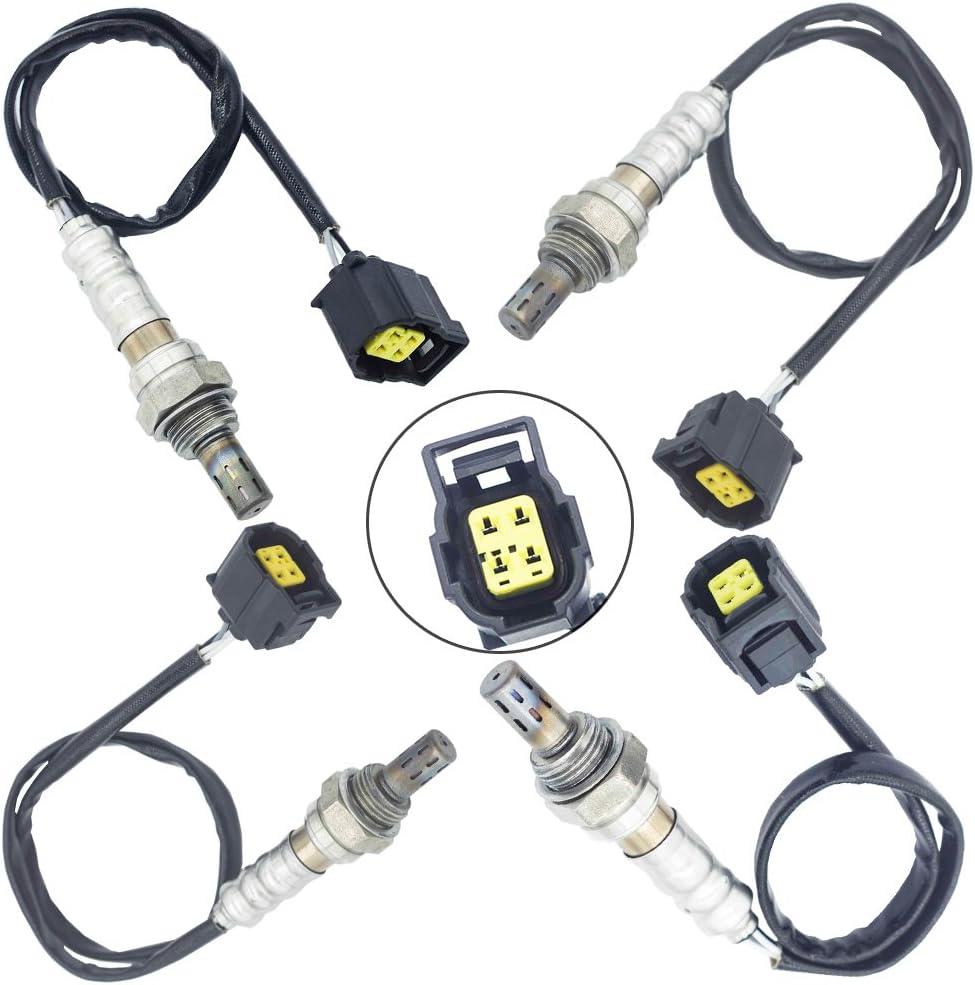 4Pcs Upstream /& Downstream 02 Oxygen O2 Sensor For Jeep Wrangler 3.8L 2007