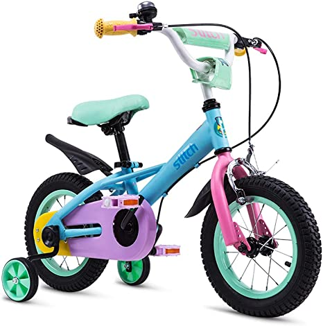 UOOGOU Bicicleta para niños con Rueda Auxiliar Bicicleta para ...