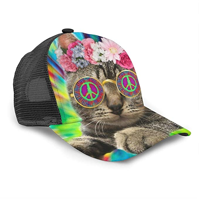 Gorra de béisbol Unisex, diseño de Gato Hippie, Corbata de Gatito ...