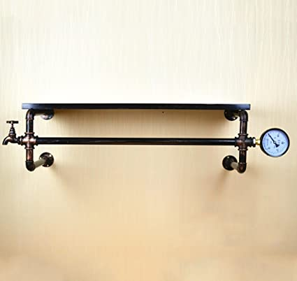 Amazon.com: Vintage loft Iron Hose Coat Rack, Living Room ...