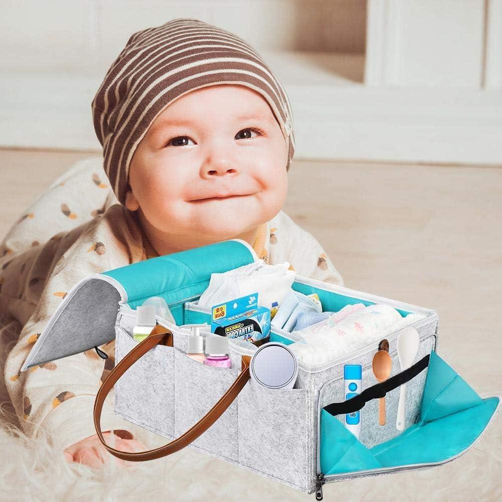Faltbare Filz Aufbewahrungstasche Tragbare Leicht Multifunktions Austauschbare F/ächer F/ür Mama Neugeborene Kinder Windeln Baby Windel Caddy Organizer