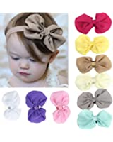 Susenstone® 9PCS Babys Girls Chiffon Flower Elastic Headband Photography Headbands