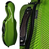 Tonareli Cello-shaped Fiberglass Viola Case w/Wheels - Special Edition Green Checkered VAF1020