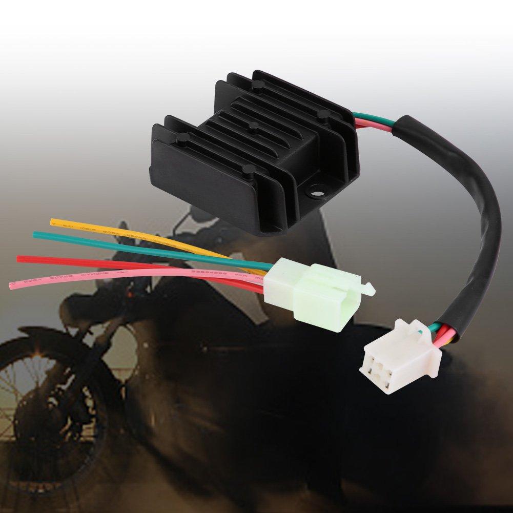 4 Wires Voltage Regulator rectifier Electrical Voltage Regulator for Motorcycle And Boat Motors DIY Engines