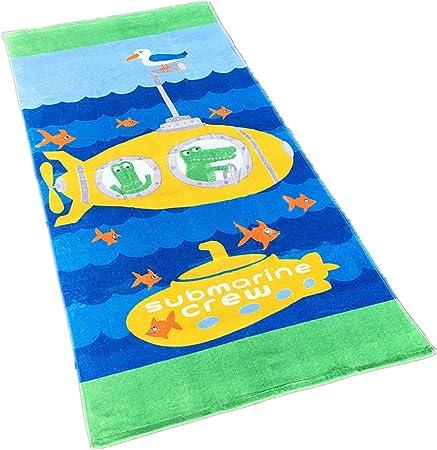 Toallas de Playa,Toalla de baño, Toalla de Dibujos Animados para niños 100% Algodón Toalla de Deportes para Hombre y Mujer 160 * 80cm (Submarino): Amazon.es: Hogar