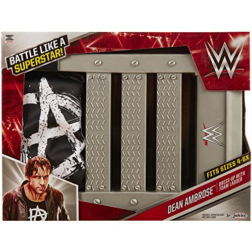 WWE Dean Ambrose Dress Up with Ladder Power Prop Playset (Costume Role Playset)