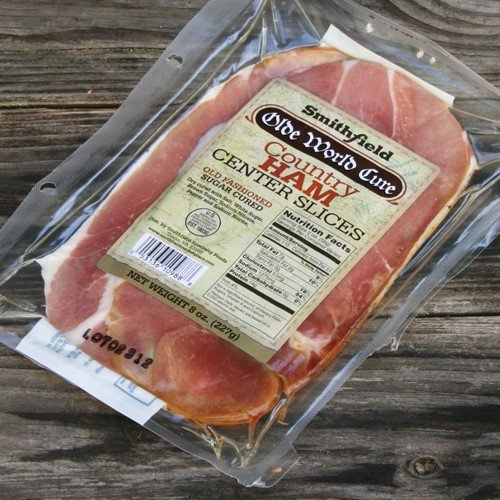 Smithfield Country Ham Olde World Cure Center Slice Ham Steaks (6 - Country Smithfield Hams