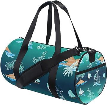 Vibrant Pink Watercolor Women Sports Gym Totes Bag Multi-Function Nylon Travel Shoulder Bag