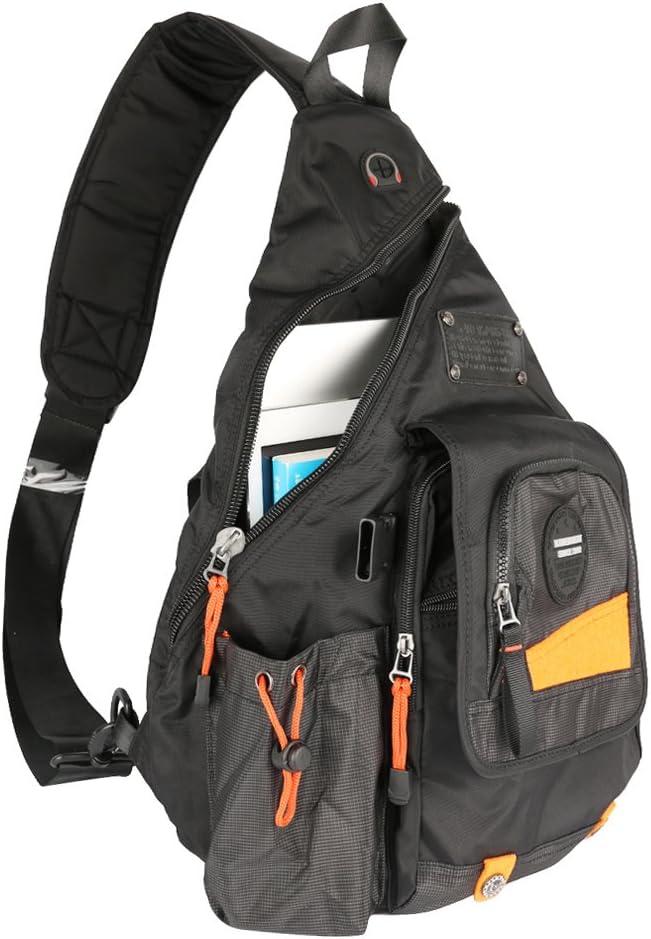 "Innturt Large Sling Bag Backpack Pack 13"" 14"" Laptop Bag Satchel School Travel Black"