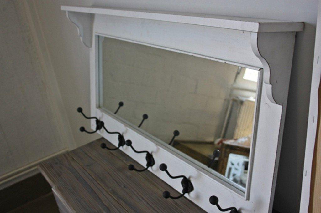 Garderobe Mit Spiegel elbmöbel garderobe mit spiegel holz antik weiß landhaus cottage